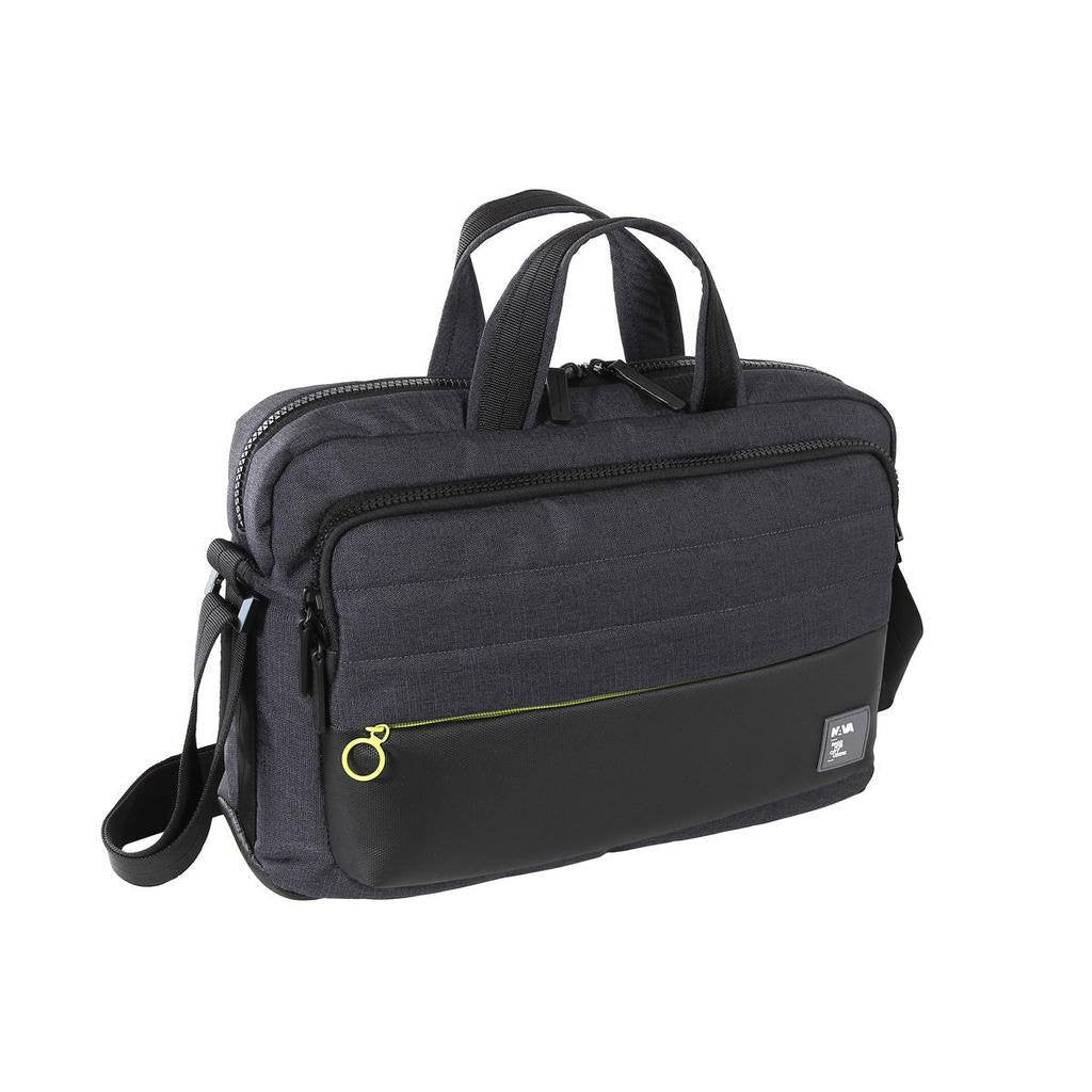 Nava Design Passenger Tech Briefcase | Black/Green PS081NV