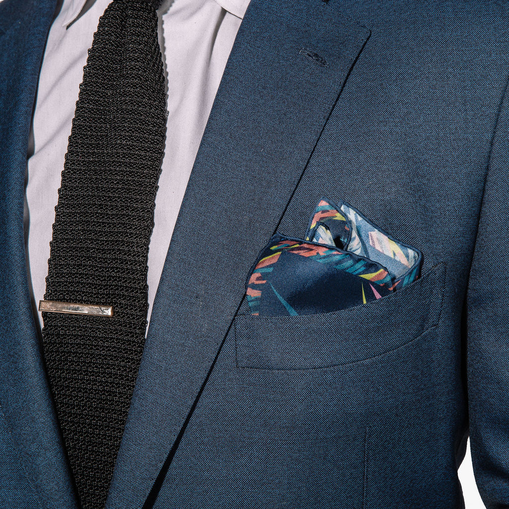 Hook & Albert Far Out Pocket Square | Green PSLNS17F-GNYL-SLK