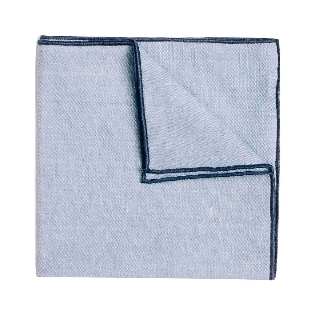 Hook & Albert Billary Pocket Square | Blue PSSBC16S-NVY-OS