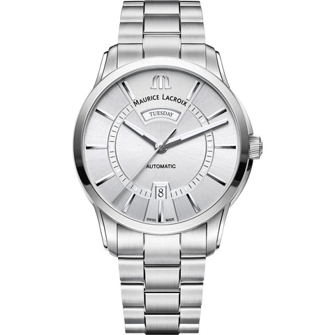 Maurice Lacroix Pontos Day Date 41mm Watch | Silver PT6358-SS002-130-1