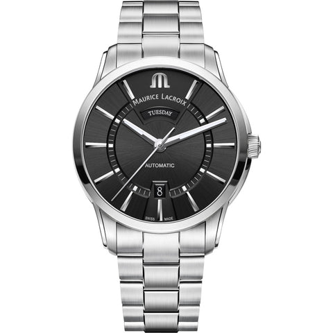 Maurice Lacroix Pontos Day Date 41mm Watch | Black/Silver PT6358-SS002-330-1