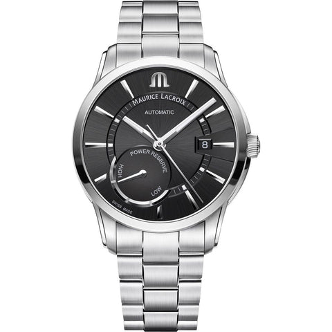 Maurice Lacroix Pontos Reserve 41mm Watch | Black/Silver 41mm PT6368-SS002-330-1