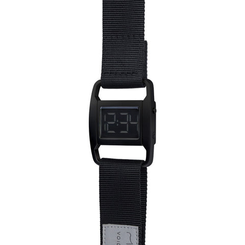 VOID PXR-5 Matte Black Watch | Black Nylon PXR5-BL/BL