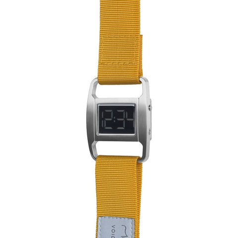 VOID PXR-5 Brushed Silver Watch | Mustard Nylon PXR5-BR/MU
