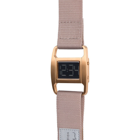 VOID PXR-5 Brushed Copper Watch | Dusty Pink Nylon PXR5-CO/DP
