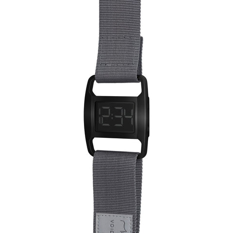 VOID PXR-5 Polished Black Watch | Grey Nylon PXR5-PB/GY