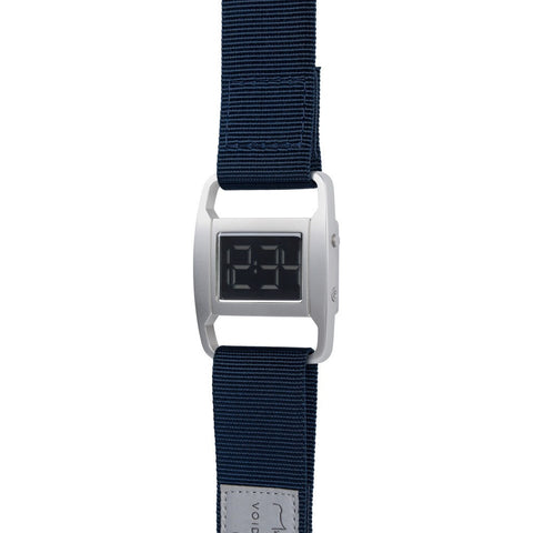 VOID PXR-5 Matte Silver Watch | Navy Nylon PXR5-SI/NY