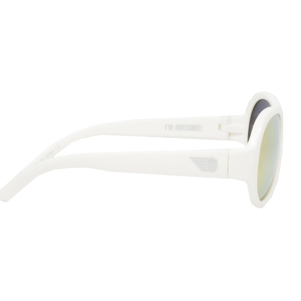 Babiators Wicked White Polarized Sunglasses | Orange Ages 3-7+ BAB-052