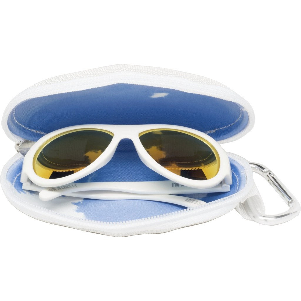 Babiators Wicked White Polarized Sunglasses | Ages 0-3 / Ages 3-7+