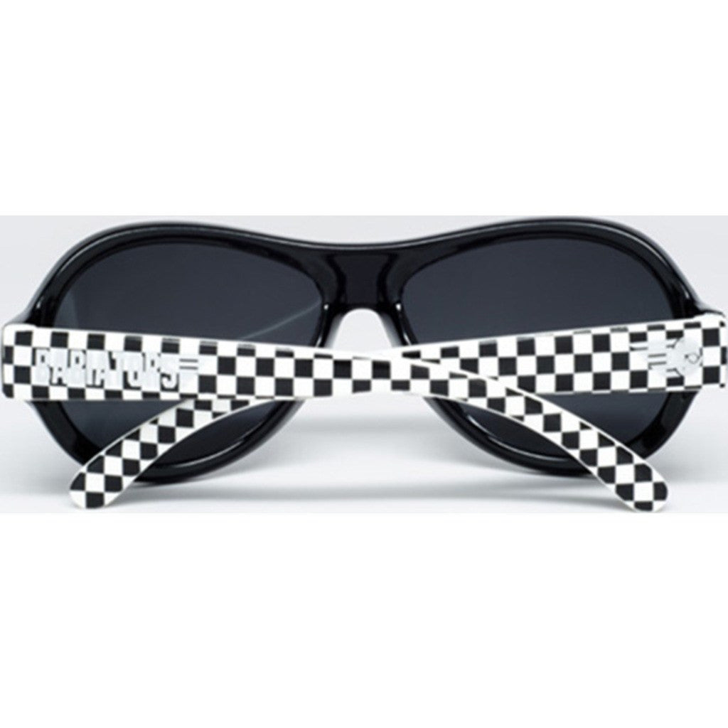 Babiators Out of Sight Black & White Polarized Sunglasses | Ages 3-7+