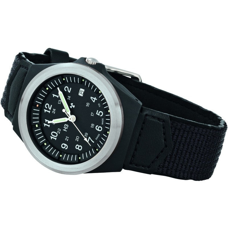 traser H3 Military P5900 Type 3 Men's Watch Textile-Leather Strap