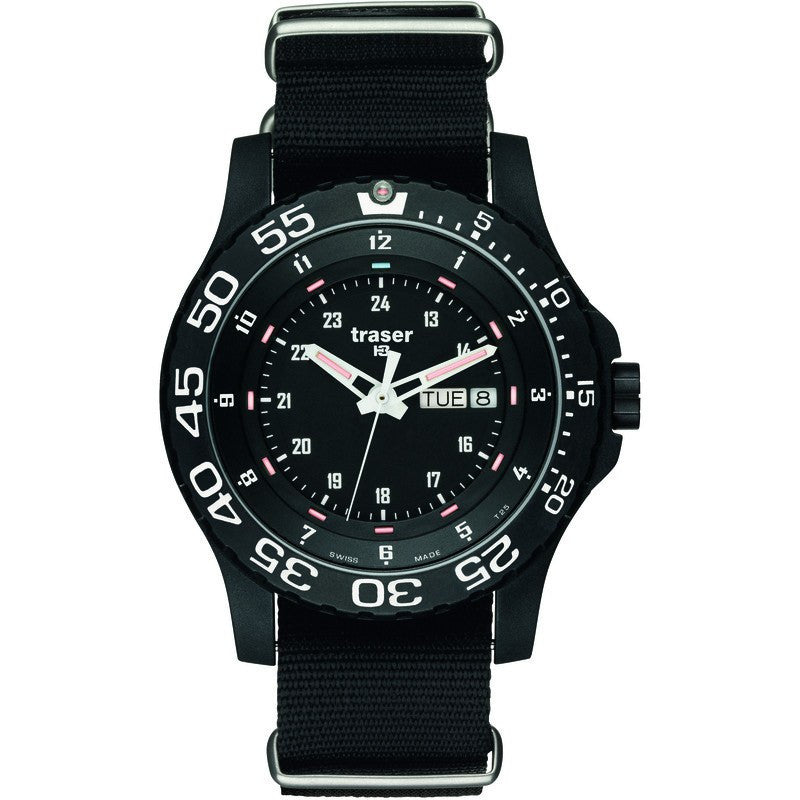 traser H3 Professional P6600 Elite Red Military Men's Watch Nato Strap