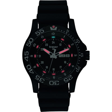 traser H3 Professional P6600 Elite Red Military Men's Watch Rubber Strap
