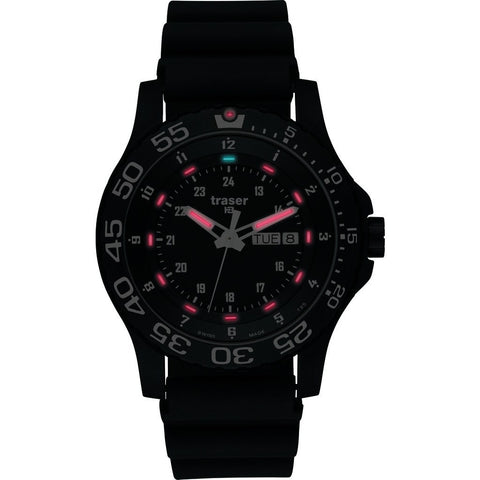 Traser H3 P 6600 Elite Red Watch | Rubber Strap 100378