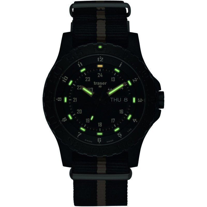 traser H3 Professional P6600 Sand Men's Watch Textile Strap Black-Sand