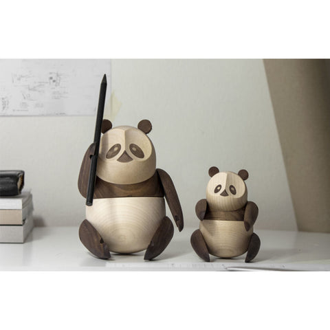 Architectmade Large Wooden Panda | Walnut & Maplewood