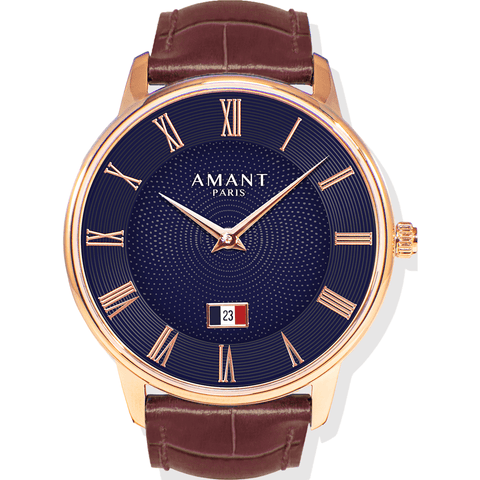 AMANT Paris Gold Watch | Sienna Brown