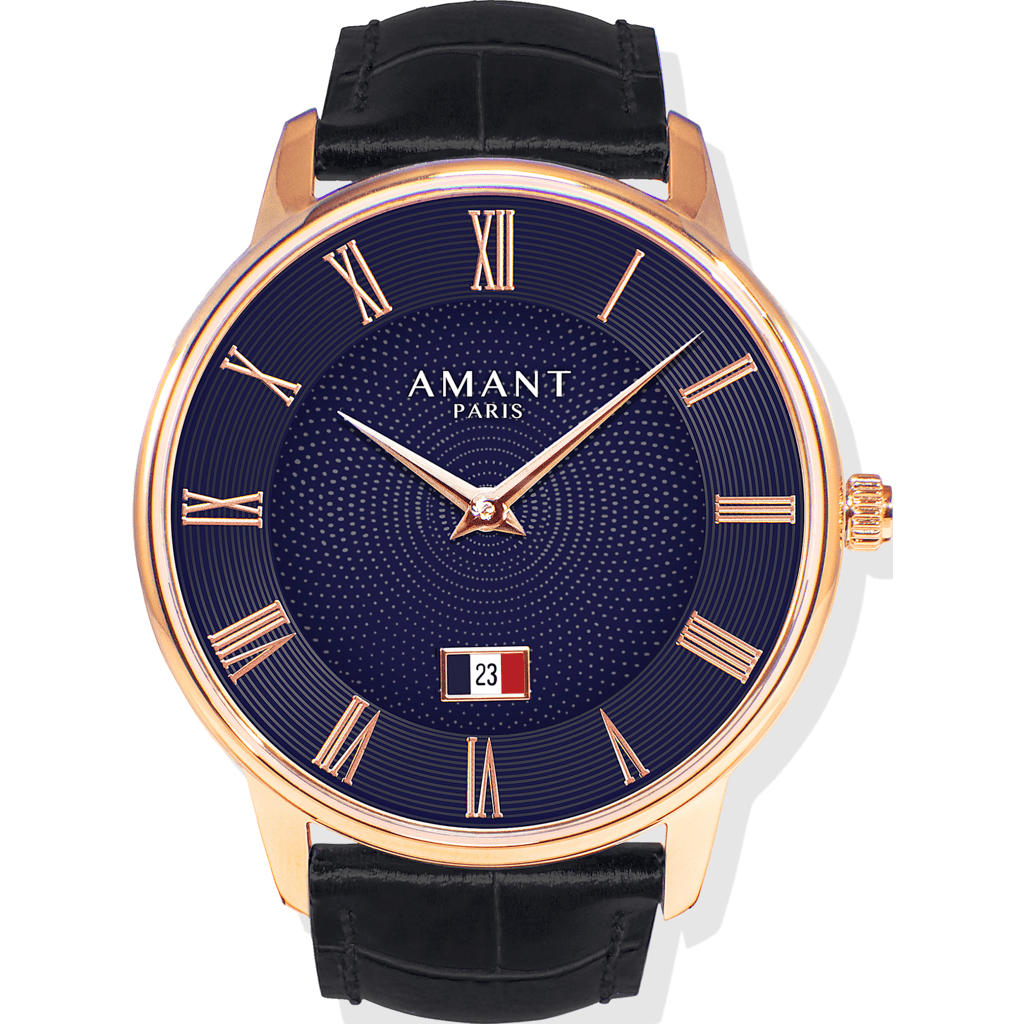 AMANT Paris Gold Watch | Black