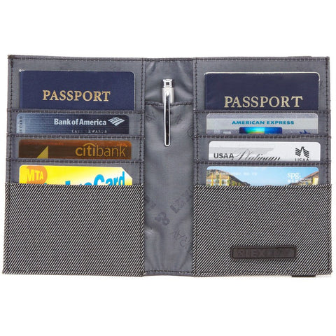 Lexdray Paris Passport Case | Black & Grey