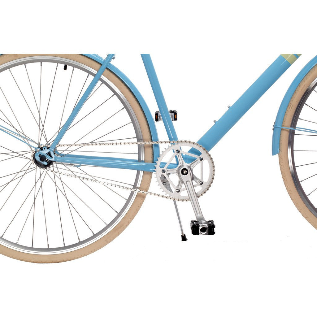 Sole Bicycles Park Row City City Cruiser Bike | Baby Blue/Easter Egg Yellow Accents CTB 002-50