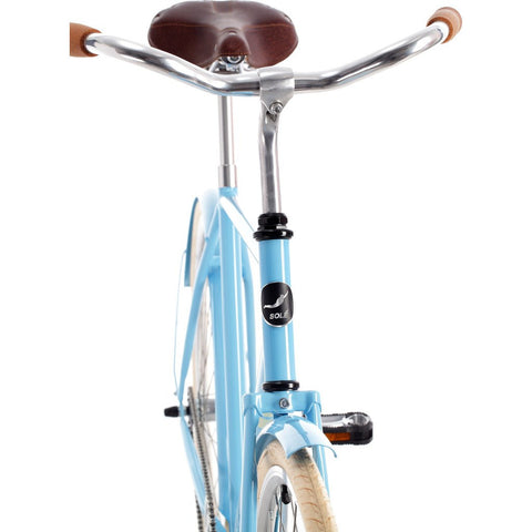 Sole Bicycles Park Row City City Cruiser Bike | Baby Blue/Easter Egg Yellow Accents CTB 002-46