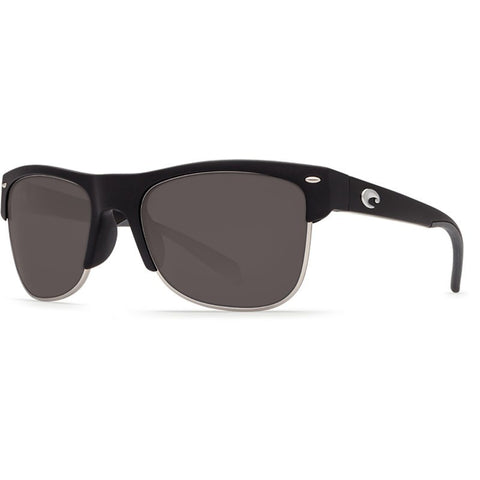 Costa Pawleys Matte Black Sunglasses | Gray 580P