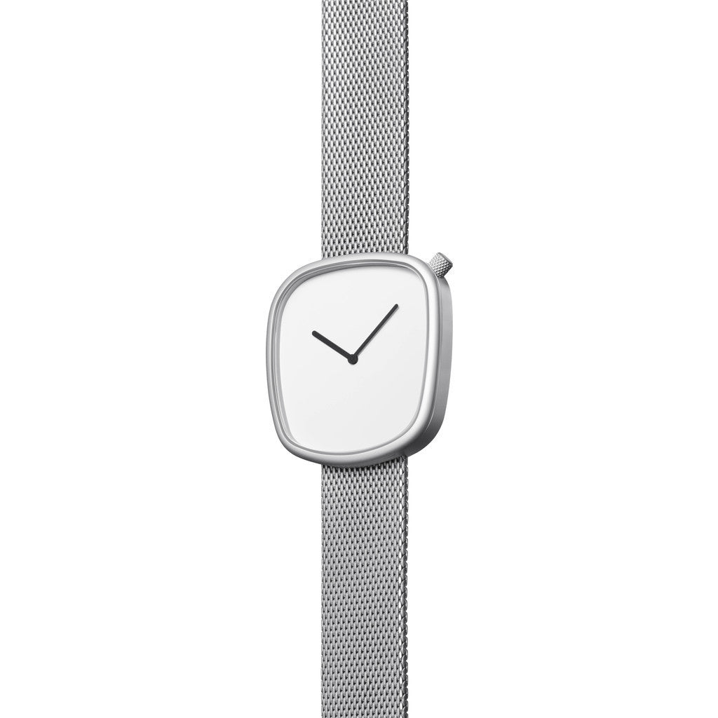 bulbul Pebble 06 Men's Watch | Matt Steel on Milanese Mesh