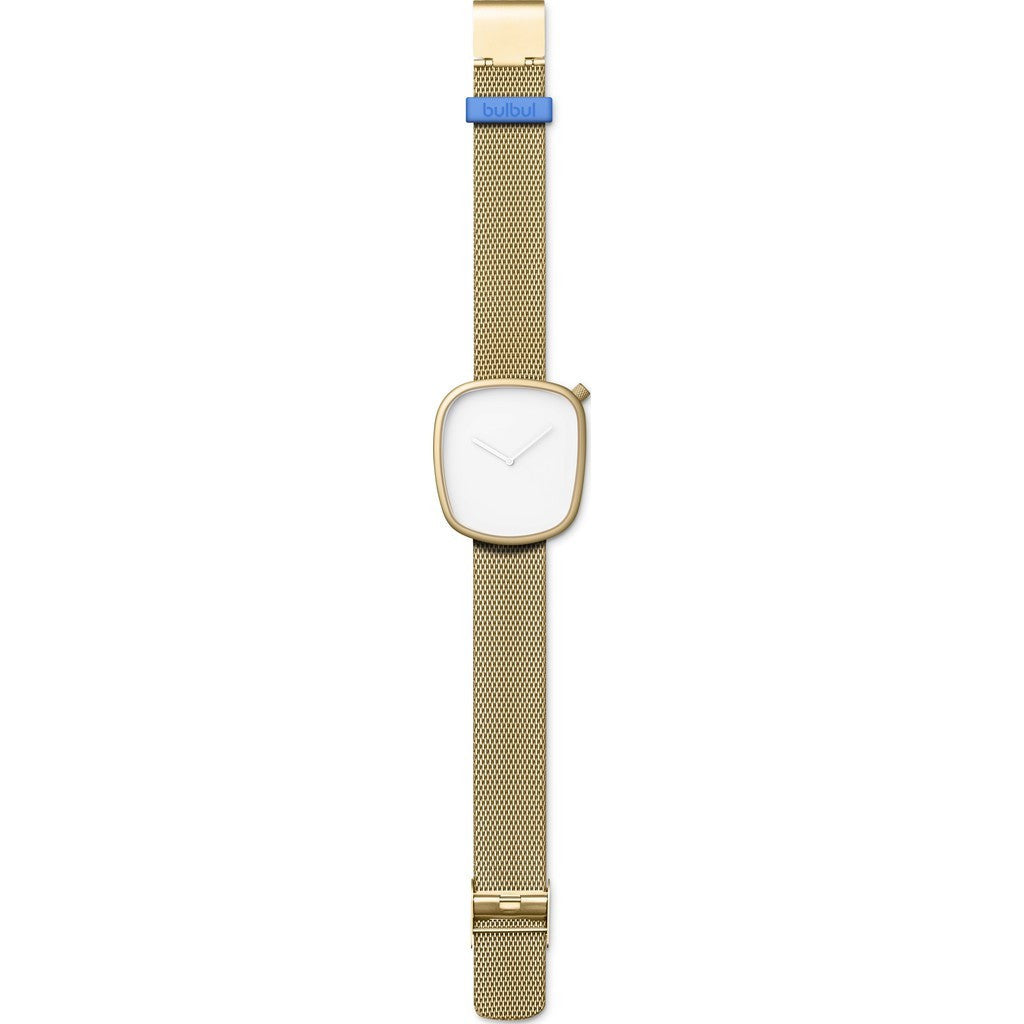 bulbul Pebble 08 Men's Watch | Gold Matte Steel on Gold Mesh