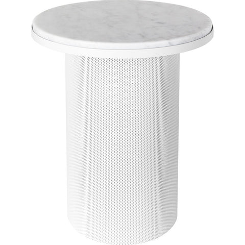 Esaila Pedestal Side Table-White PED-01-WHT