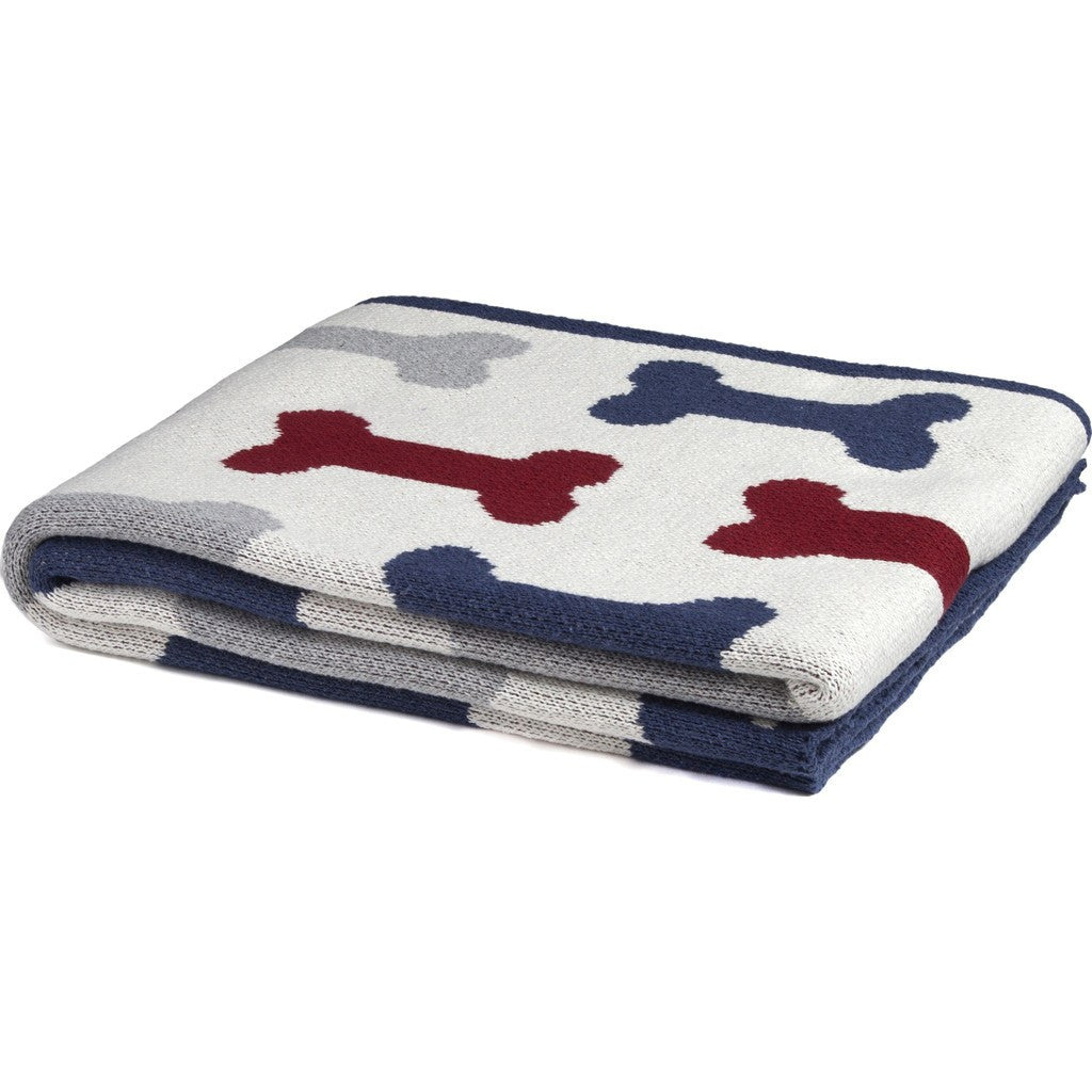 in2green Pet Bone Eco Throw | Milk/Pom/Slate PTPB3