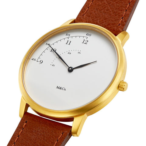 Projects Watches Pie 40mm Watch | Brass/Brown 7408-40