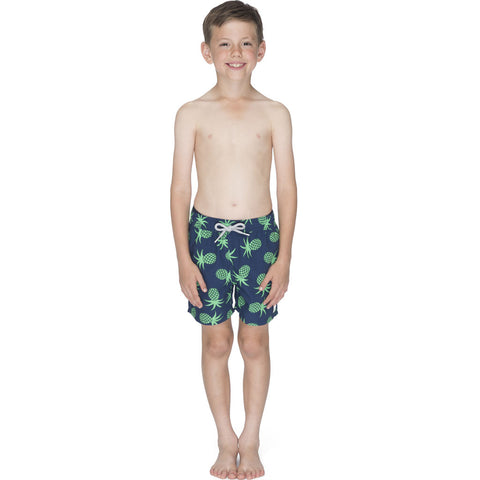 Tom & Teddy Boy's Pineapple Swim Trunk | Irish Green / 11-12