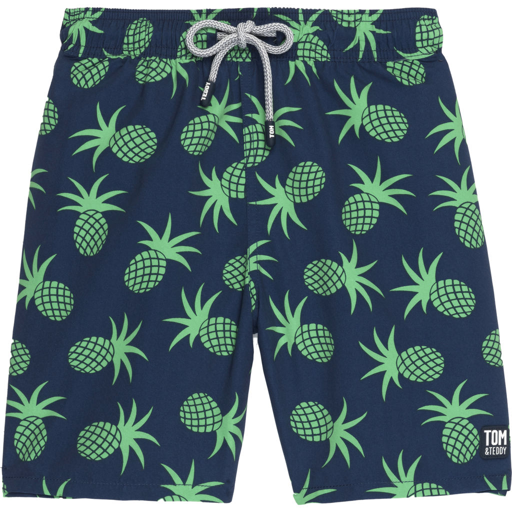 Tom & Teddy Men's Pineapple Swim Trunk | Irish Green / 2XL