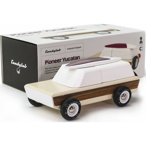 Candylab Pioneer Yucatan Truck w/ Canoe Wooden Toy | Sandy M1002