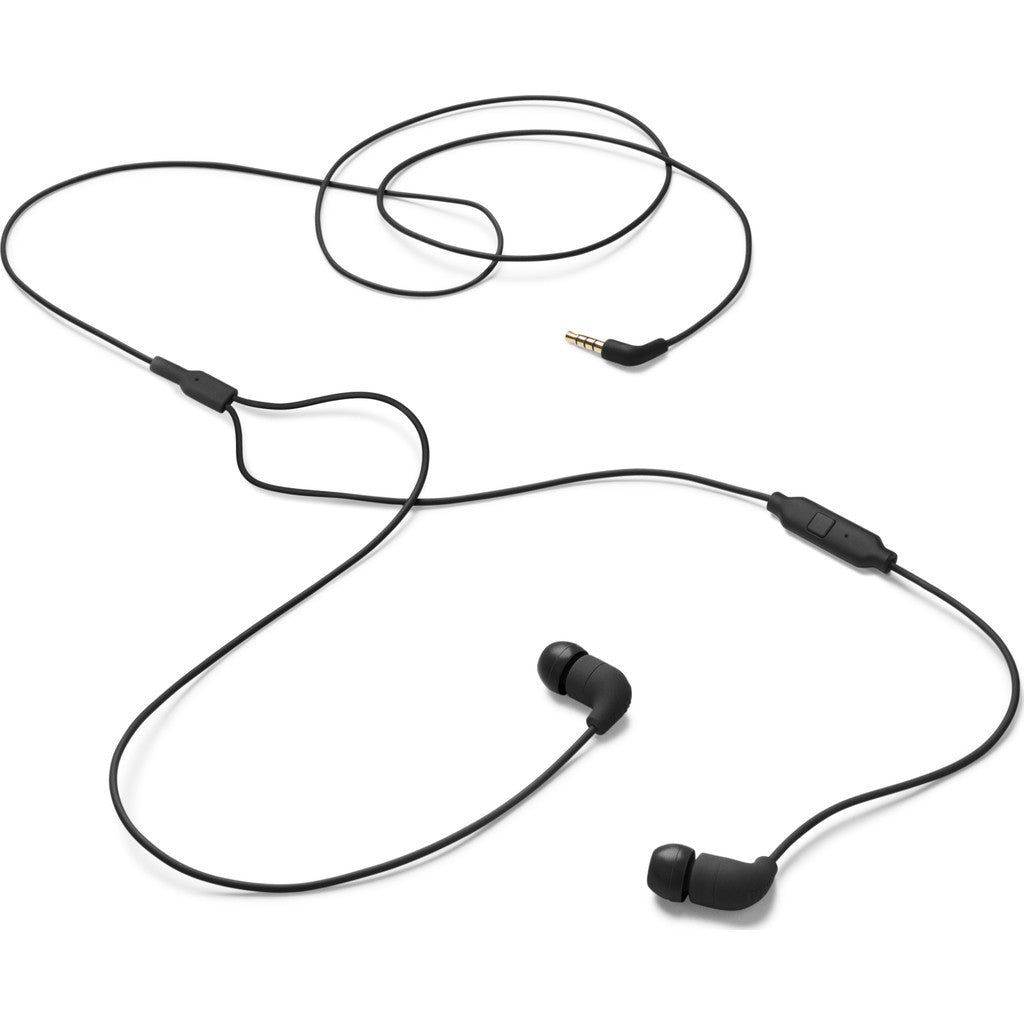 AIAIAI Pipe Earphones with One Button Mic | Black