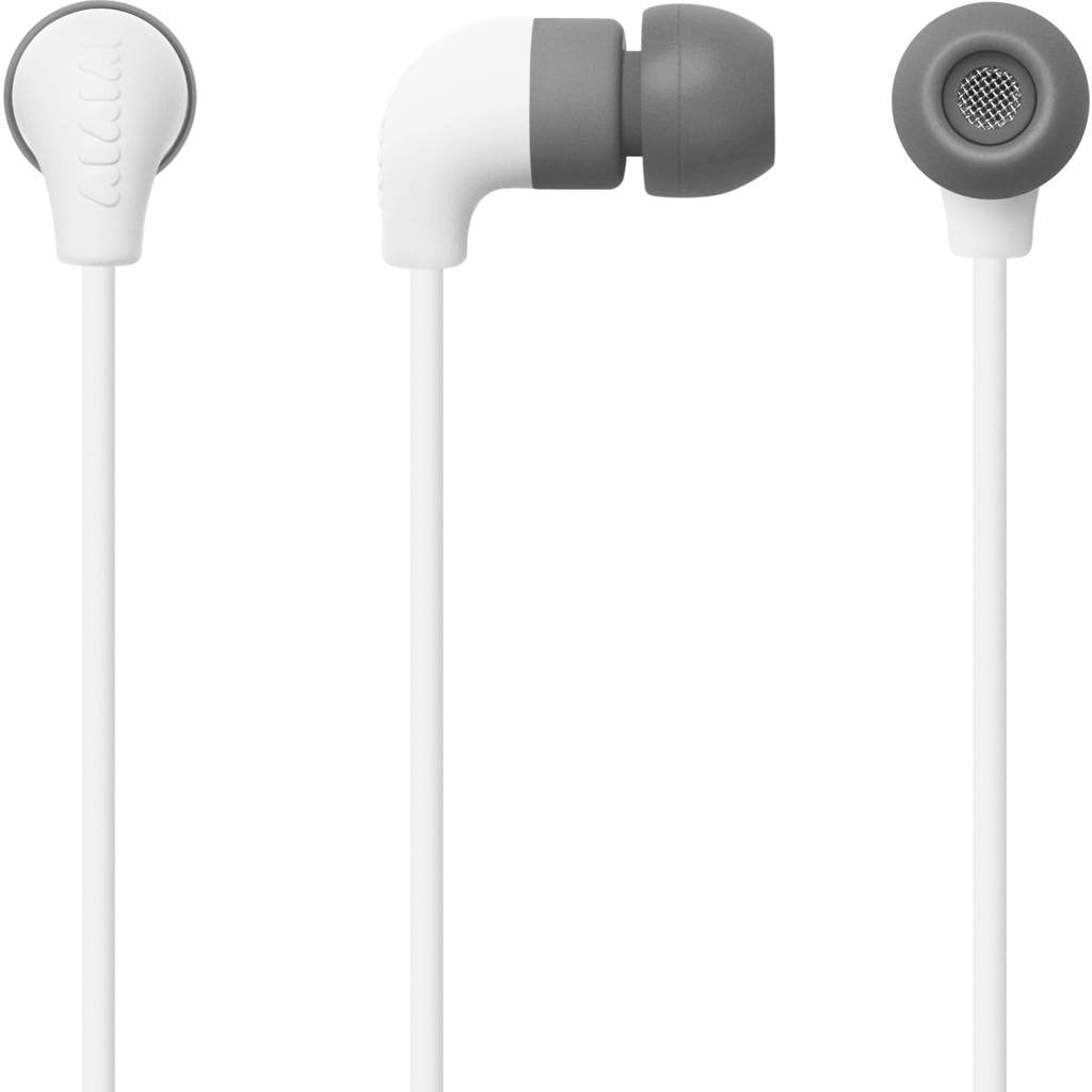 AIAIAI Pipe Earphones with One Button Mic | White