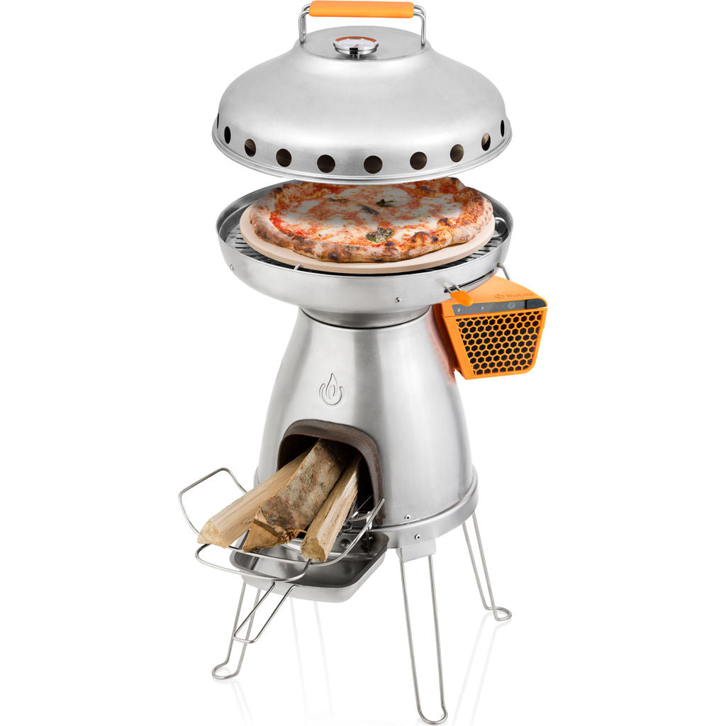 BioLite BaseCamp PizzaDome & Stone Attachment | Stainless Steel/Ceramic CAB1001