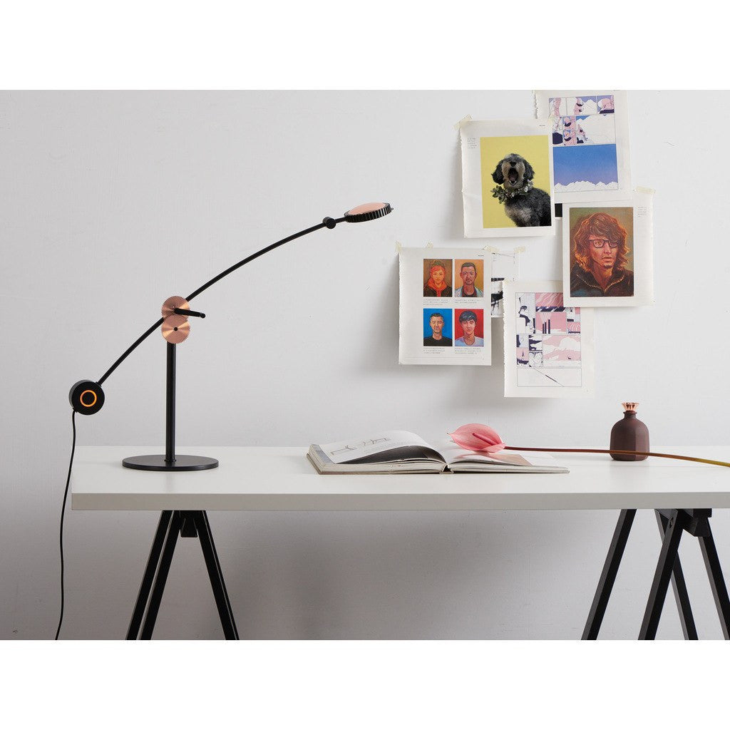 Seed Design Planet Table Lamp | Matte Black/Copper SLD-100DRTE-CPR