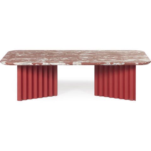 RS Barcelona Large Plec Table | Marble/Coral