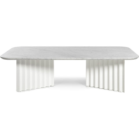 RS Barcelona Large Plec Table | Marble/White