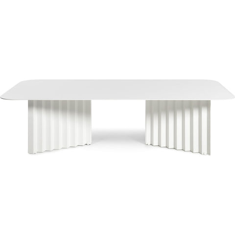 RS Barcelona Large Plec Table | Metal/White