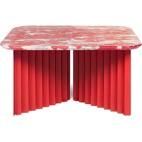 RS Barcelona Medium Plec Table | Marble/Coral