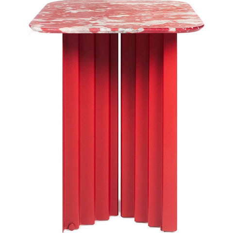 RS Barcelona Small Plec Table | Marble/Coral