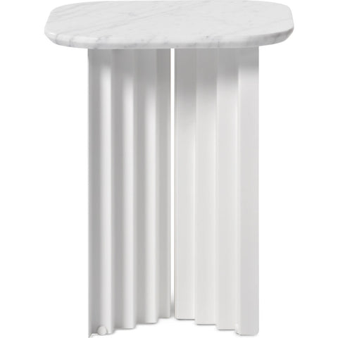 RS Barcelona Small Plec Table | Marble/White
