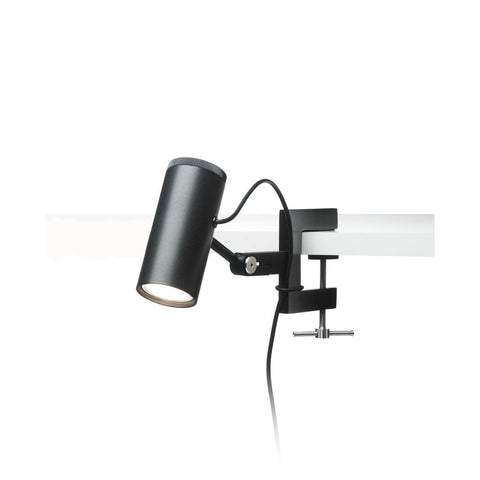 Marset Polo A Shelf Light with Clamp | Black