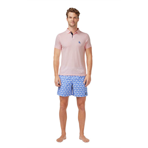 Tom & Teddy Men's Polo Shirt | Pastel Pink