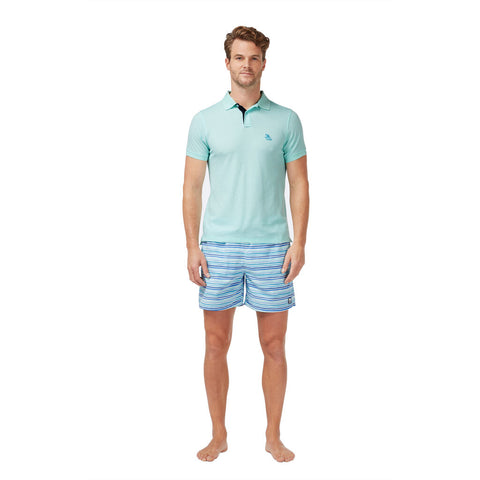 Tom & Teddy Men's Polo Shirt | Whisper Blue
