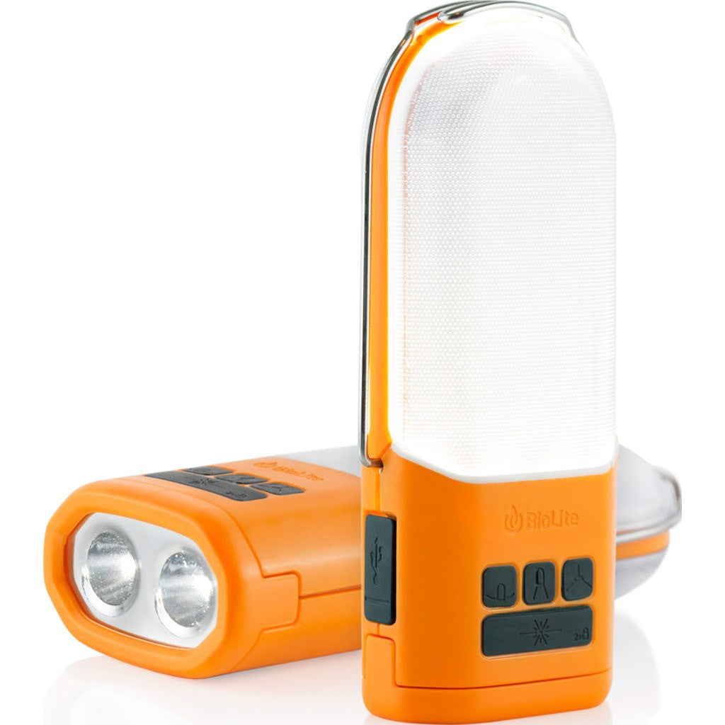 BioLite Power Light Bundle Portable Energy Hub | Orange LCA