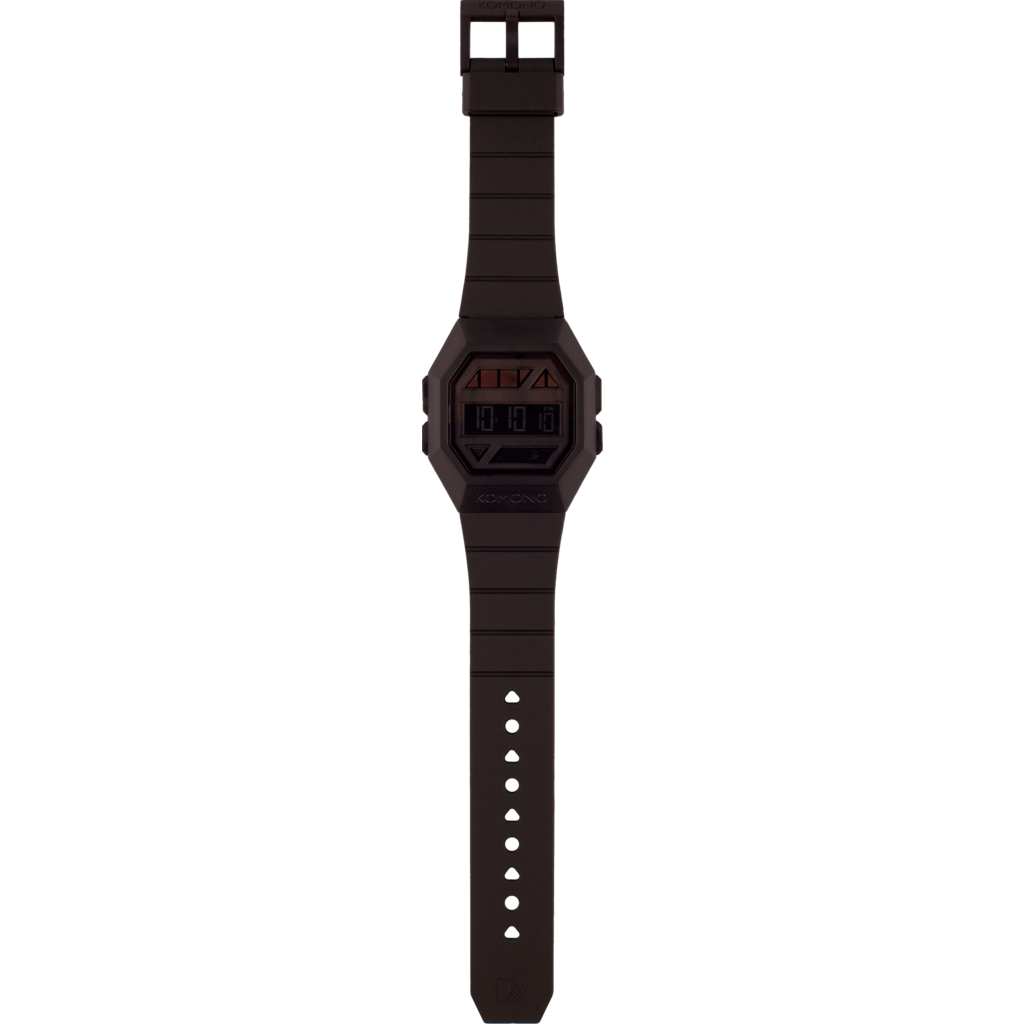 Komono Powergrid Watch | Pitch Black