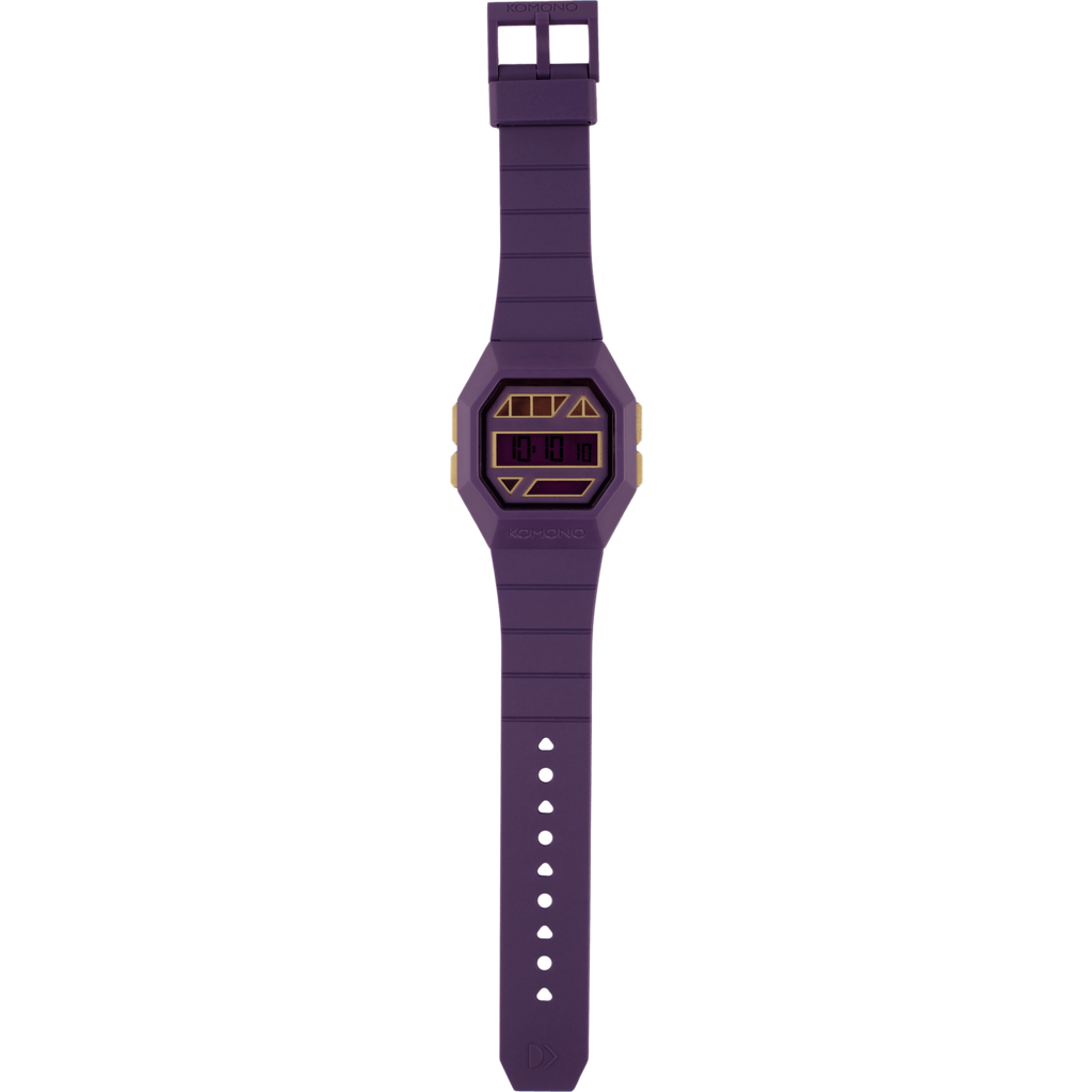 Komono Powergrid Watch | Purple/Gold